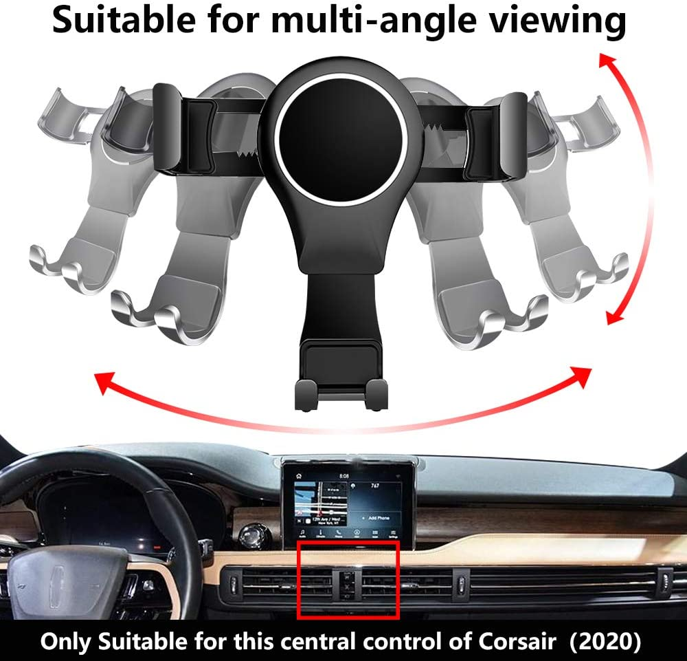 LUNQIN Car Phone Holder for 2020 Lincoln Corsair SUV Auto Accessories Navigation Bracket Interior Decoration Mobile Cell Phone Mount