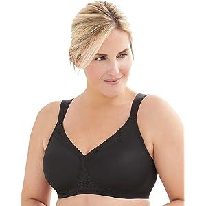 Glamorise Womens Full Figure MagicLift Non-Padded Wirefree T-Shirt Bra #1080