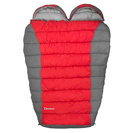 Alice Double Sleeping Bag Mummy Shape Queen Size for 2 Person Camping Backpacking 0 Degree Cold Whether