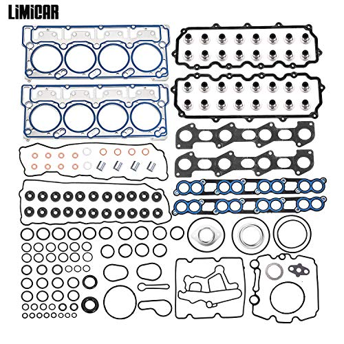 LIMICAR Cylinder Head Gasket Set 18MM Dowels Compatible w/ 03-10 Ford 6.0L PowerStroke Diesel Turbo F-250 F-350 F-450 F-550 E350 E450 Super Duty