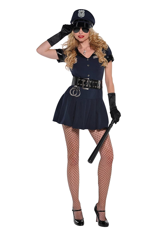 Karnevalsbud Damen Komplettkostüm Polizisten-Kleid Swat, M, Schwarz
