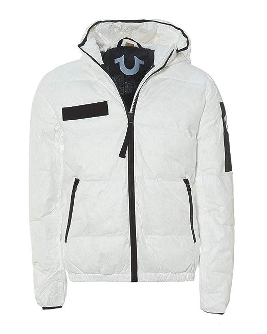 141261546 True Religion Mens Hooded Down Bomber Jacket: Amazon.co.uk: Clothing