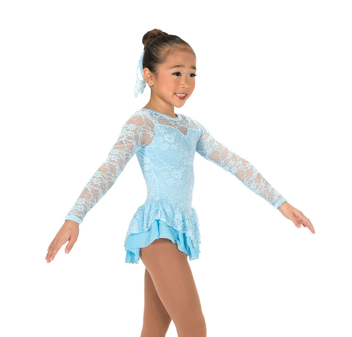 Jerry's Figure Skating Dress 175 - Lace Palace Pastel Blue (4-6) by Jerry's Skating World
