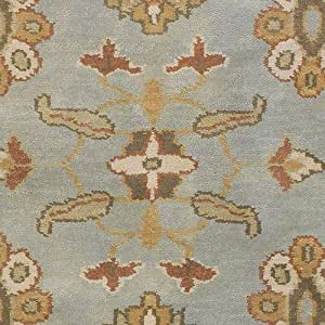 Pale Jade Round Traditional Oriental rug by Surya Caspian in 8'x8'