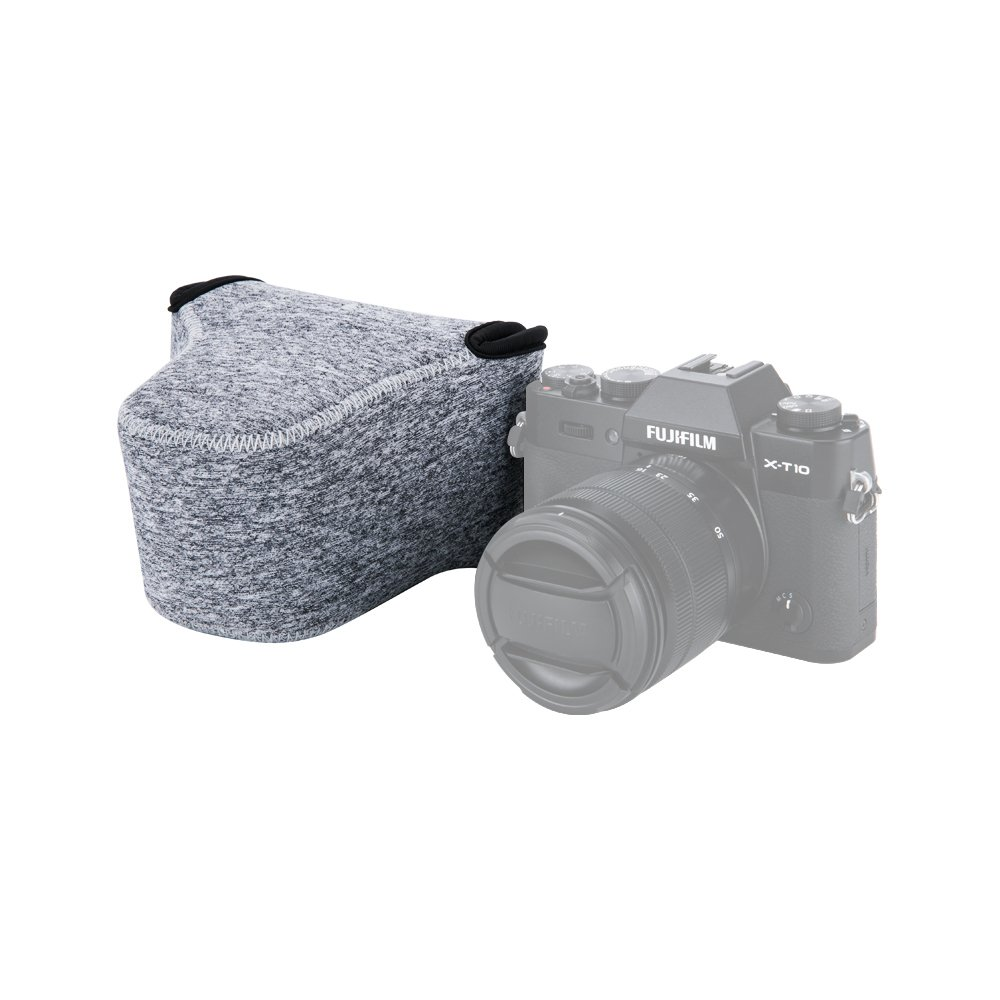 Jjc Ultra Light Neoprene Camera Case Pouch Bag For Fuji Fujifilm X E3 Kit Xf 23mm F2 Silver 35mm F14 T20 T10 M1 A3 16 50mm 18 55mm Lens And Other
