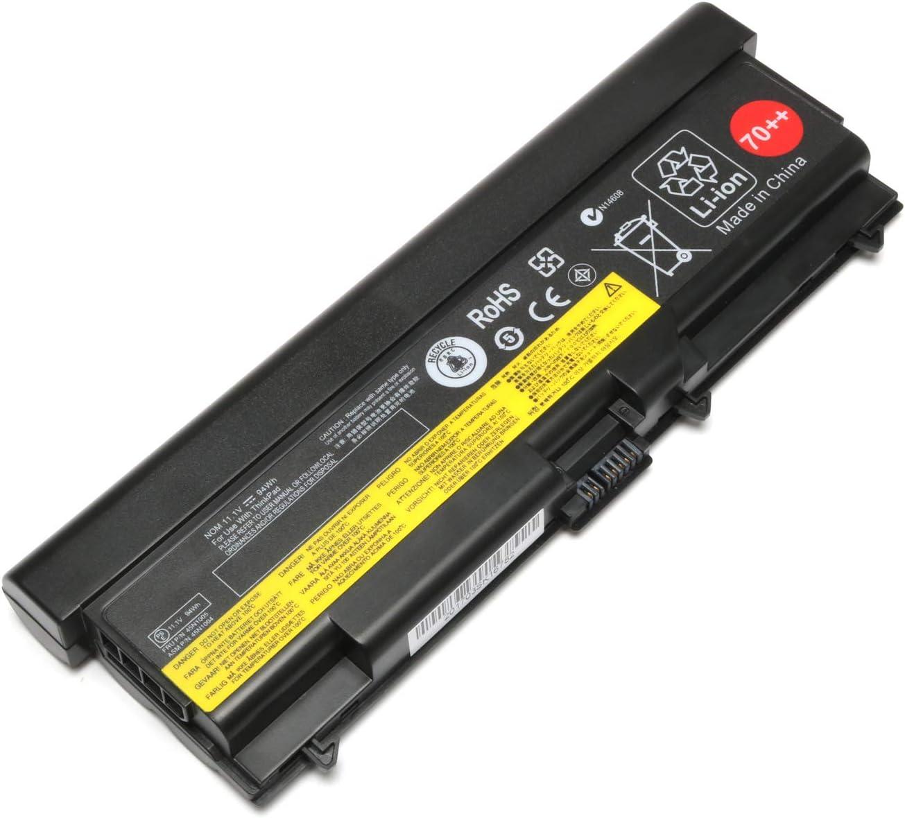 70++ 0A36303 Laptop Battery for Lenovo Thinkpad T430 W530 T530 L430 L530 L412 L420 L430 L512 L520 L530 45N1011 45N1010 Replacement for 45N1005 45N1007 45N1011