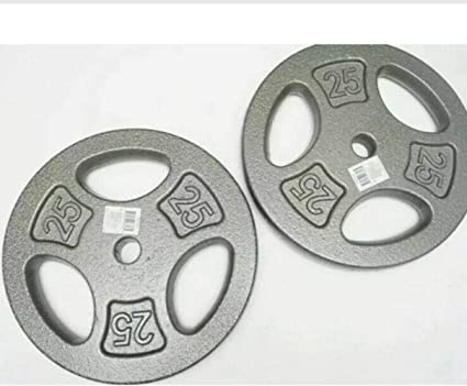 set of 4-2.5 LB Pound CAP Weight Cast Iron Plates standard 1 inch 10lb total