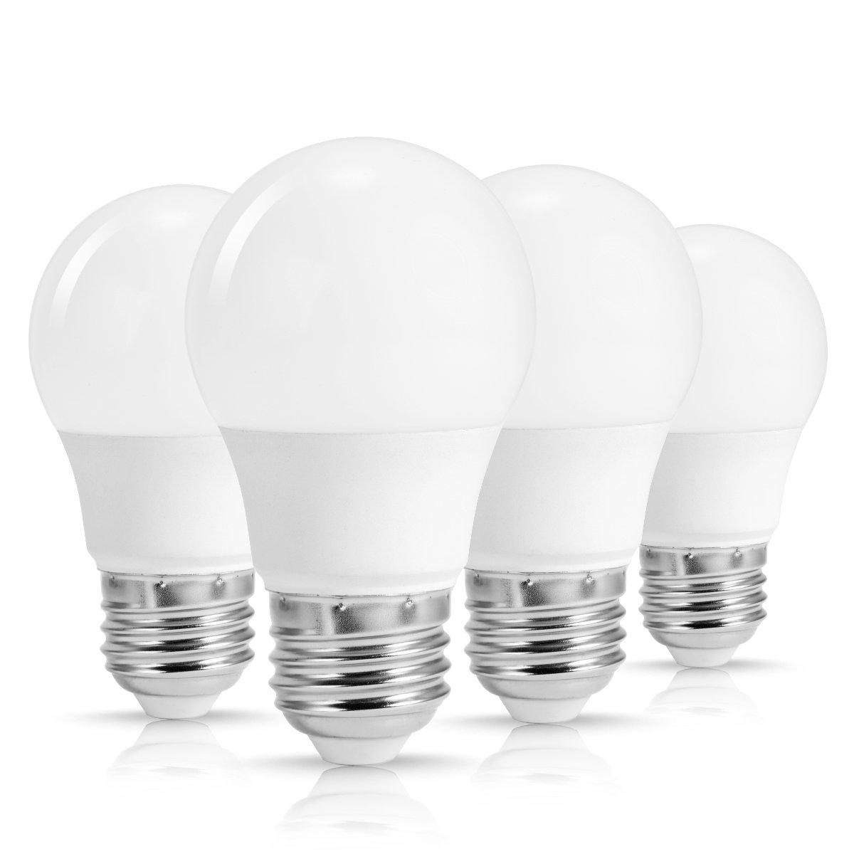 techgomade a15 LED電球5 W (40 Wハロゲン同等)、デイライト、ホワイト5000 K、e26ミディアムベースライト電球、12 V AC/DC、450lumens、a15 /g45形状装飾エジソン電球ホーム照明4パック B07DDBRSP6