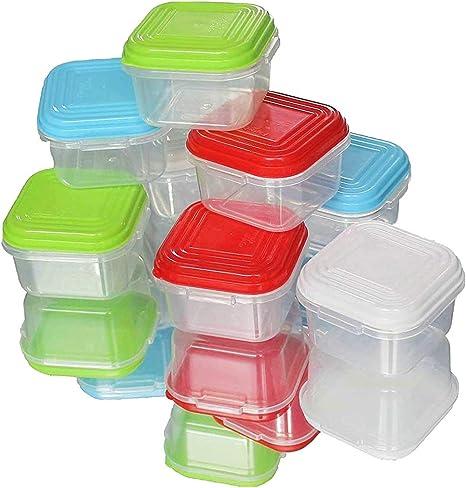 NEEZ Juegos de recipientes para Cereales Pasta, Fiambreras, Sin BPA, Almacenamiento de Alimentos, Almacenamiento y organización, Almacenamiento de Cocina y despensa (Pack of 8x120ml): Amazon.es: Hogar