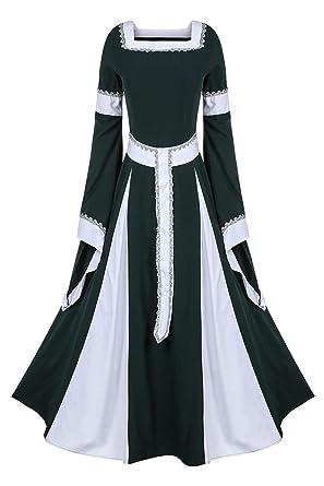 tianxinxishop Vestido de Traje Renacentista Medieval Vestido Largo ...