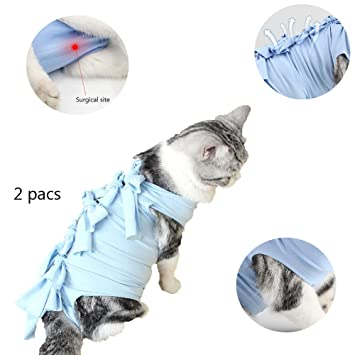 WTTTTW Traje de recuperación para Gatos, Alternativa de collarín ...