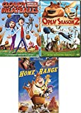 Round up the Kids Cartoon DVD pack Disney Home on the Range & Open Season 2 + Cloudy with A chance of Meatballs bundle Animated Collection 3 Kids Favorites