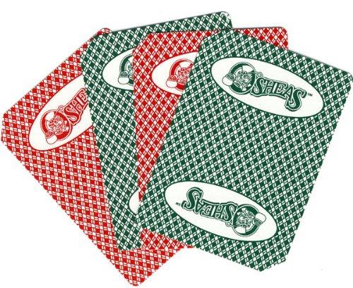 2 Decks of O'SHEAS CASINO Las Vegas Nevada Used Playing Cards Closed Las Vegas Casino