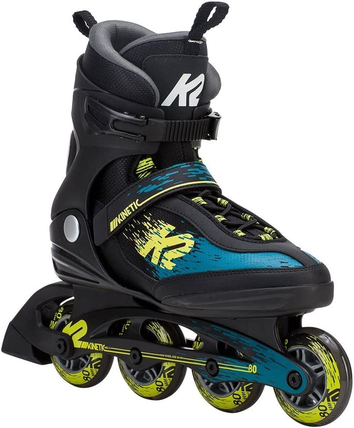K2(ケーツー) インラインスケート 2018 KINETIC 80 Mens 黒-緑-黄 男性用 I180201901 日本正規品 保証書あり  26cm