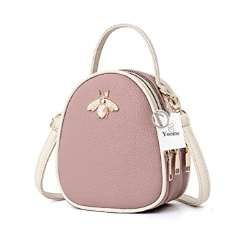3d57c8a56d34 Yoome Faux Leather Small Crossbody Shoulder Bag Multi-Pockets Bee Series  Cell Phone Purse Mini Satchel Handbag Wallet for Women