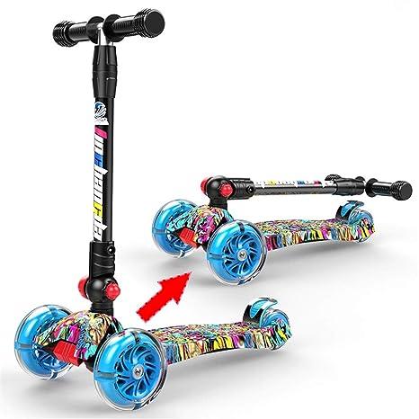Patinete Triciclo de Tres Ruedas para niños, rines LED ...
