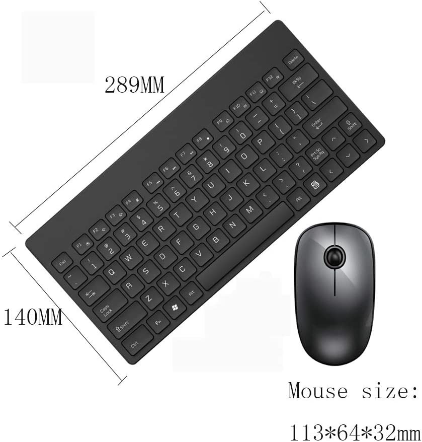 Lightweight Portable Mute Wireless Keyboard And Mouse Combination Set Game Home Office Desktop Wireless Mouse and Keyboard Set Chocolate Key Power Saving Compact External USB Color : Red
