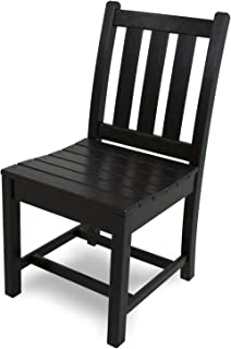 product image for POLYWOOD TGD100BL Traditional Garden Dining Side Chair, Black