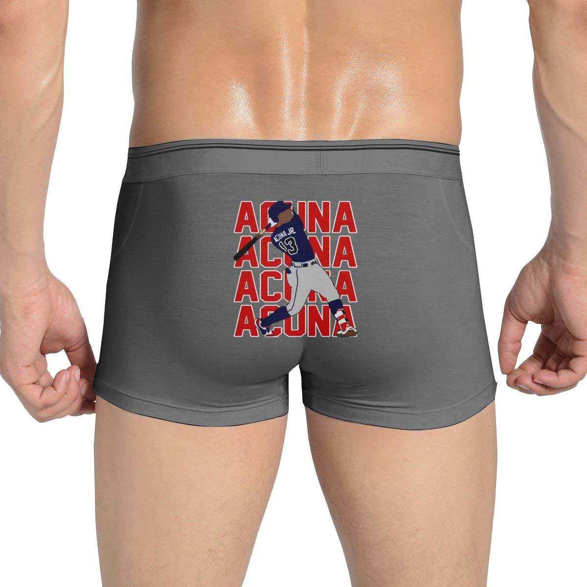 Moore Me Mens Ultra Soft Boxer Briefs Atlanta Acuna Text Pic Comfortable Underwear