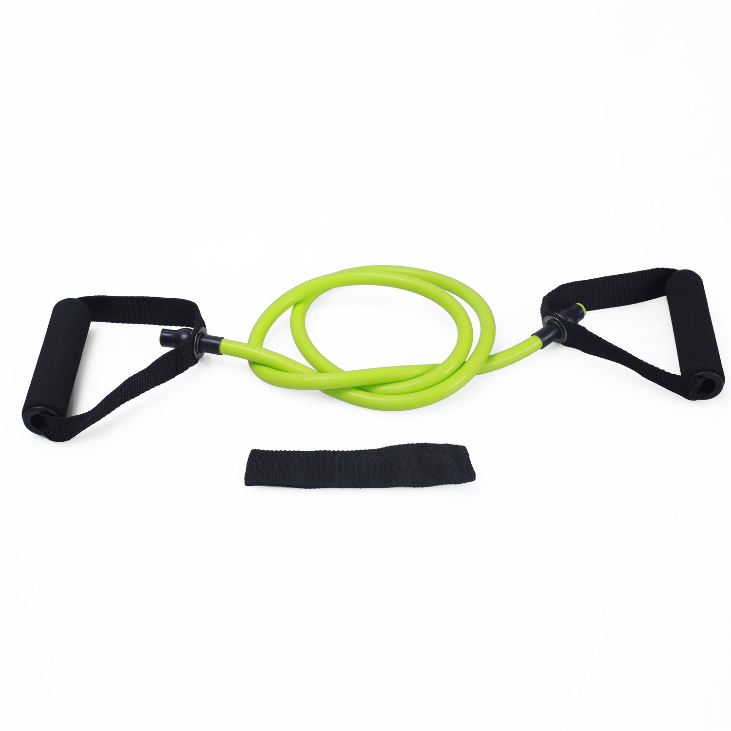 Adeco Single Resistance Band - Door Anchor and Starter Guide, green by Adeco