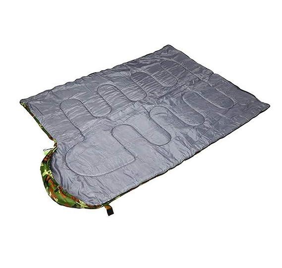 FEIYUESS Saco de Dormir Adulto, Saco de Dormir Encapuchado al Aire Libre del Camuflaje Que acampa: Amazon.es: Jardín
