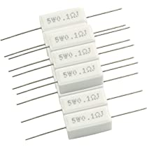 NEW 50 X Resistors 0.51 Ohms 1W Cement 5/% Tolerance