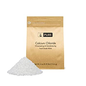 PURE Calcium Chloride (4 oz.), Eco-Friendly Packaging, Highest Quality, Food Safe, For Wine Making, Home Brew, & Cheese Making