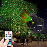 As seen on TV - Outdoor and Indoor Weatherproof Red and Green Laser Light, Star Projector Stage Light that Moves for Shooting Star Firefly effect or Stands Still to create Gorgeous Twinkling Spot Lights on any surface, Projection Light with Wireless Remote, Star Laser Show with Timer for Stage shows, Wedding, Reception, Parties, DJ Disco, New Year, Christmas, Birthday, New Year Eve, Halloween, Party, Yard, Tree, Landscape, Stage, Show, Concert, Event, Patio & Garden Decoration Spot Lighting