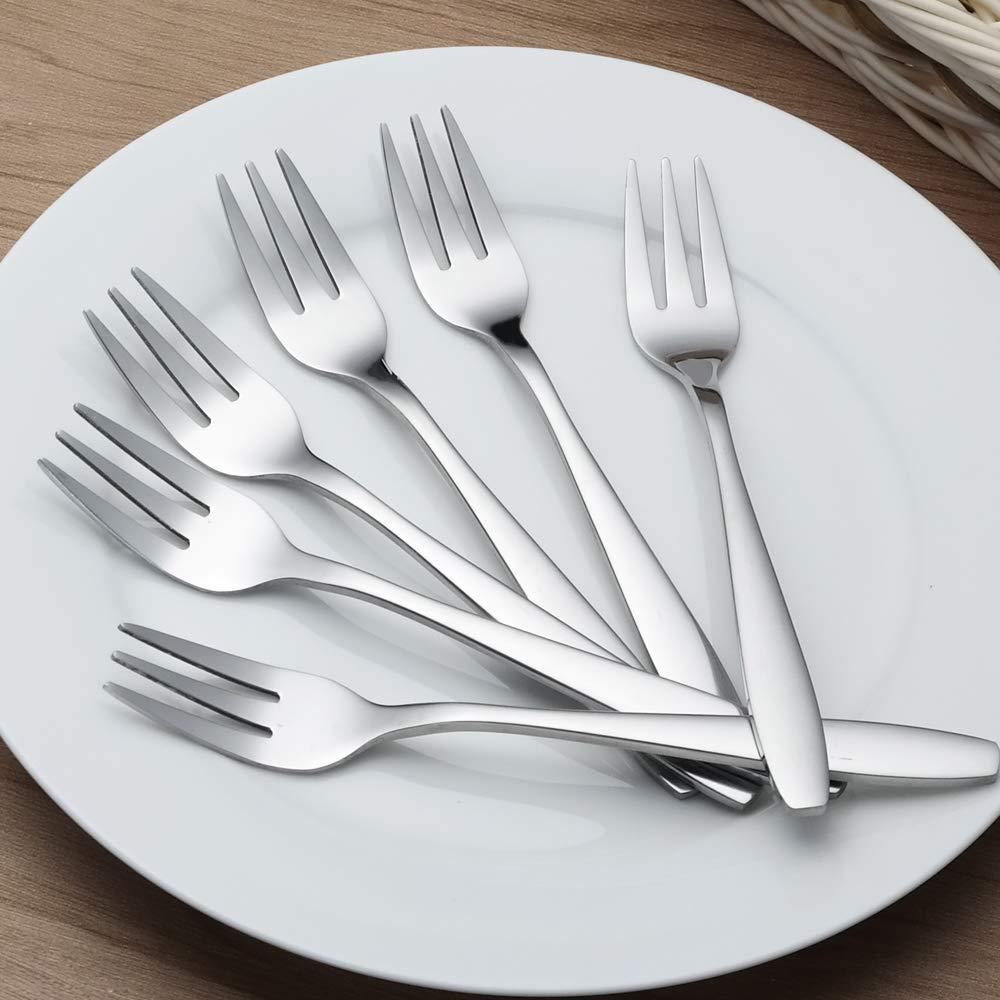 in acciaio INOX Set di 12 forchette da dessert Gitany