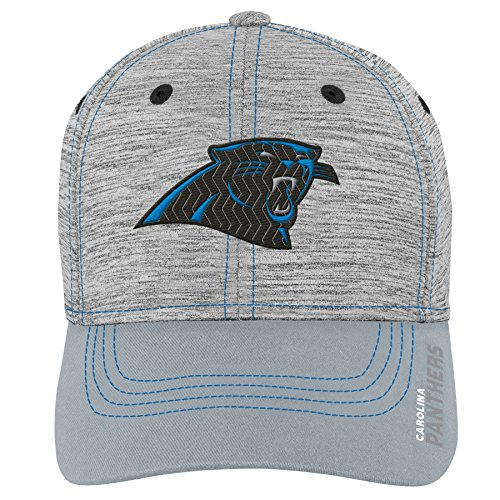 Outerstuff NFL NFL Carolina Panthers Youth Boys Velocity Structured Flex Hat Heather Grey, Youth One Size Carolina Panthers Fitted Hat