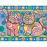 Dimensions Pencil By Number Kit 12 Inch X9 Inch -Colorful Cats
