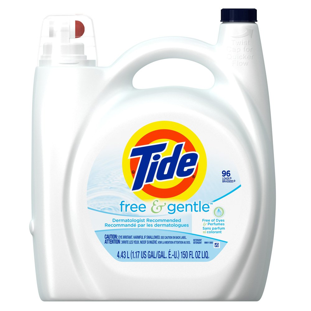 Tide Free and Gentle, 150-Ounce (Pack of 4)