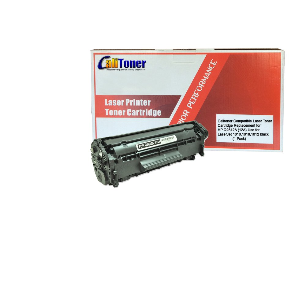 Calitoner Compatible Toner Cartridge Replacement For Hp 12a Laserjet Q2612a Black Office Products