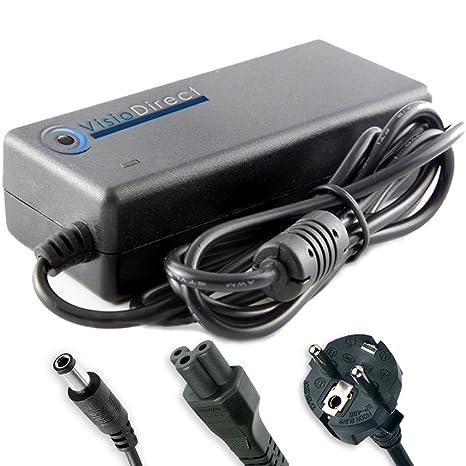 Visiodirect Adaptador cargador para ordenador portátil ...