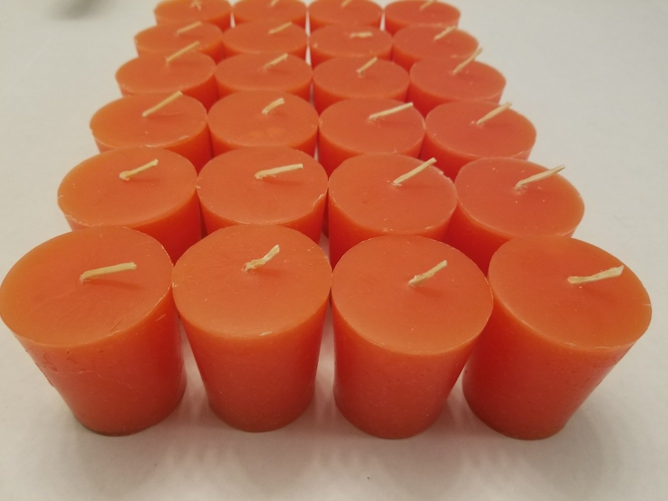 Old Candle Barn 24-Piece Votive Candles - Pumpkin Spice Scented 15 Hour - Perfect Fall Votive