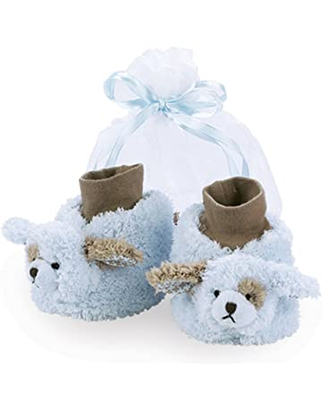 baca851e5c0 Bearington Baby Soft Plush Stuffed Animal Sock Top Slipper Booties (3-9  Months)