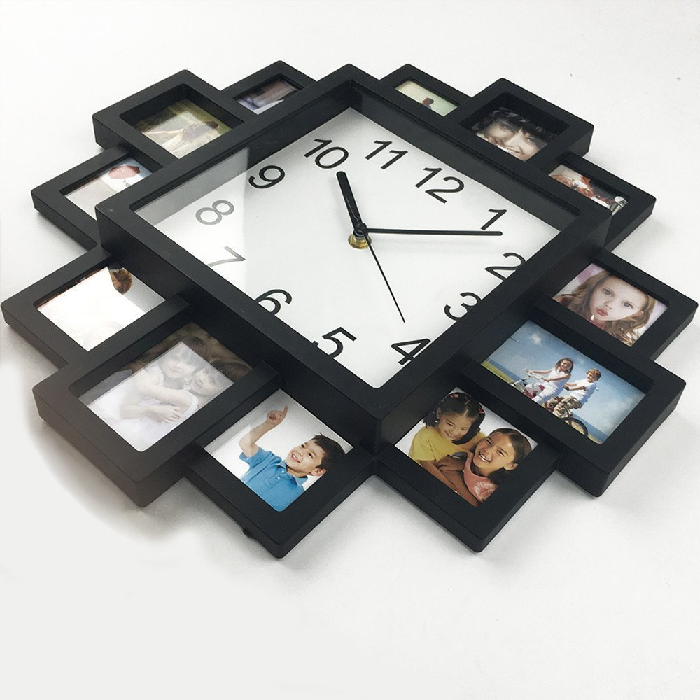 Amazon diy frame clock timelike diy wall clock modern design amazon diy frame clock timelike diy wall clock modern design diy photo frame clock plastic art pictures clock unique klok home decor make your own amipublicfo Gallery