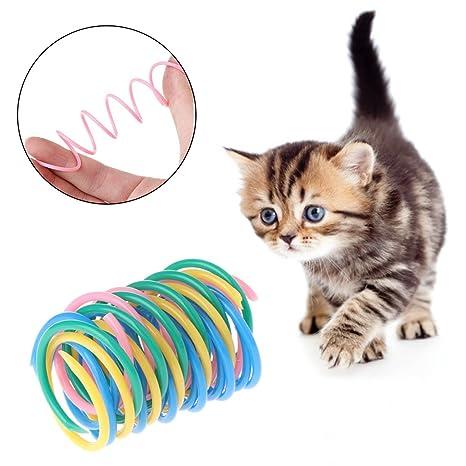 Yanhonin - Juego de 5 Juguetes interactivos para Gato, de plástico de Primavera