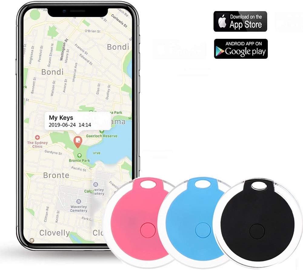 Key Finder, Afaneep Buscador de Llaves con App, Control de Cámara del Teléfono y Función de Grabación y Recordatorio de Alarma Anti-Pérdida Blue