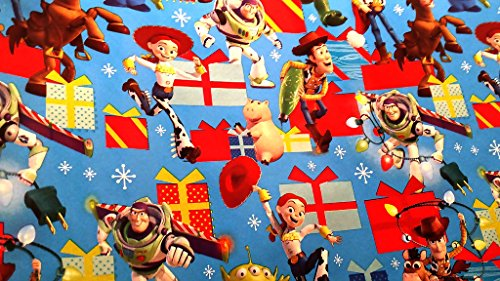 [Christmas Wrapping Toy Story Woody Holiday Paper Gift Greetings 1 Roll Design Festive Wrap Kitty Buzz] (Buzz Lightyear Shirt Costume)