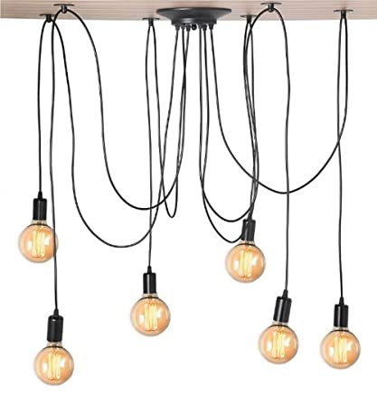 Kiven Vintage 6 head Chandelier Bulb Pendant Lights - - Amazon.com