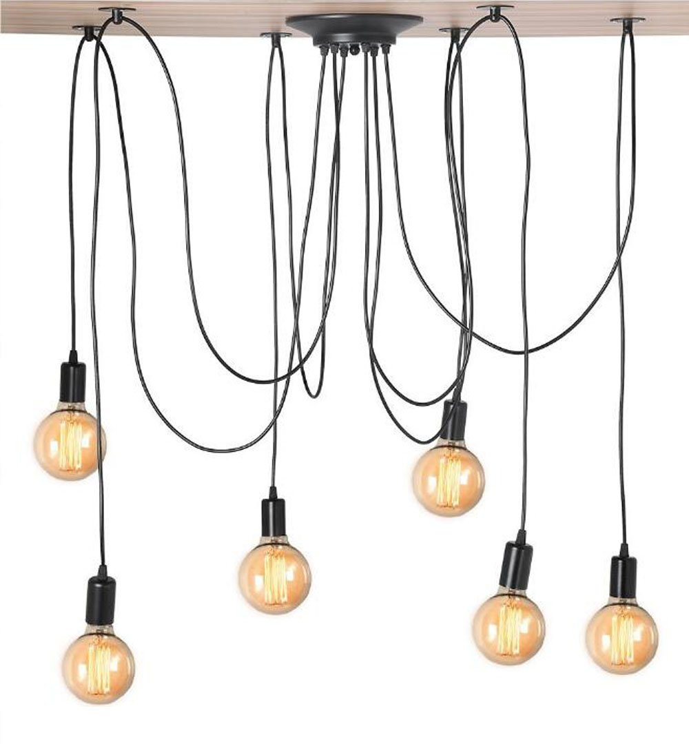 Kiven Vintage 6 head Chandelier Bulb Pendant Lights