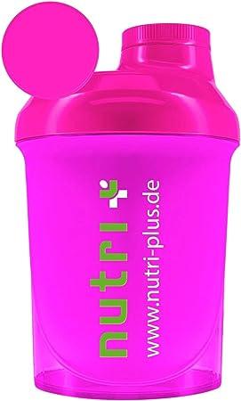 Lady-Shaker 300ml - Agitador de Proteínas - Super Rosa - Sin BPA - Sin Plastificantes - Fitness Culturismo Deporte - Nutri-Plus
