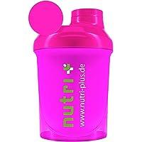 Lady-Shaker 300ml - Proteïneshaker voor vrouwen - Super Pink - BPA-vrij - zonder verzachter - voor fitness Bodybuilding…