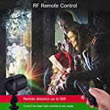 Christmas Lights Projector,Laser Lights Star Night Shower with RF Remote Controller Waterproof LED Projector Light Outdoor Decoration Green & Red Star Lights for Xmas,Holiday, Party,Black