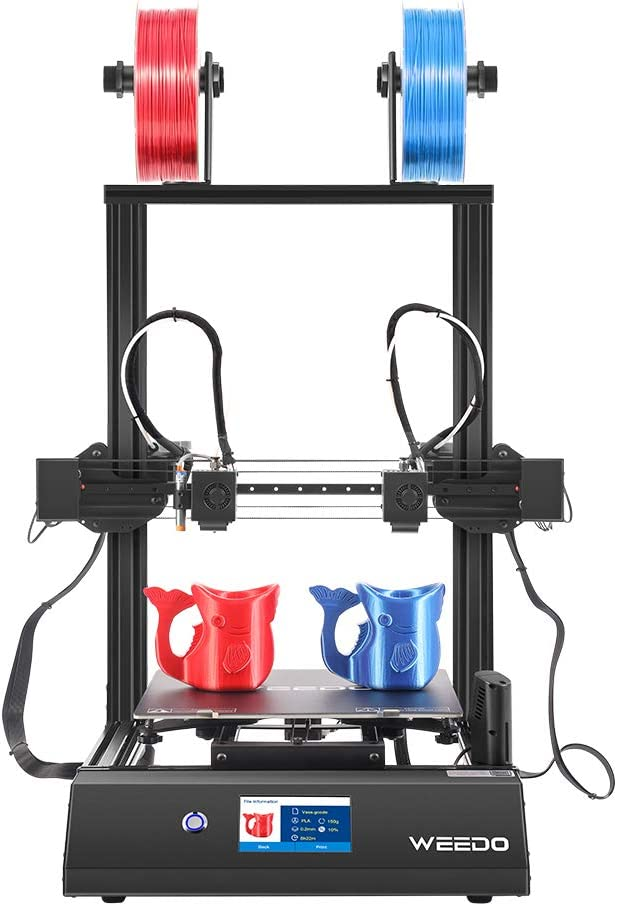 """WEEDO X40 IDEX 3D Printer with 32-bit Silent Mainboard,4.3""""Touch Screen, Auto-Leveling,Removable Heating Bed, Build Volume 300x300x400mm,Supported 1.75mm Filament PLA,ABS,TPU,PVA,PETG."""