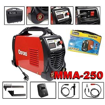 TradeShopTraesio_OX Soldador Inverter de electrodo 250 Amperios con Accesorios y Pantalla amperaggio: Amazon.es: Hogar