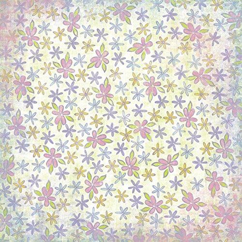 KAREN FOSTER 12 x 12-Inch Scrapbook Paper, 25 Sheets, Spring Flowers