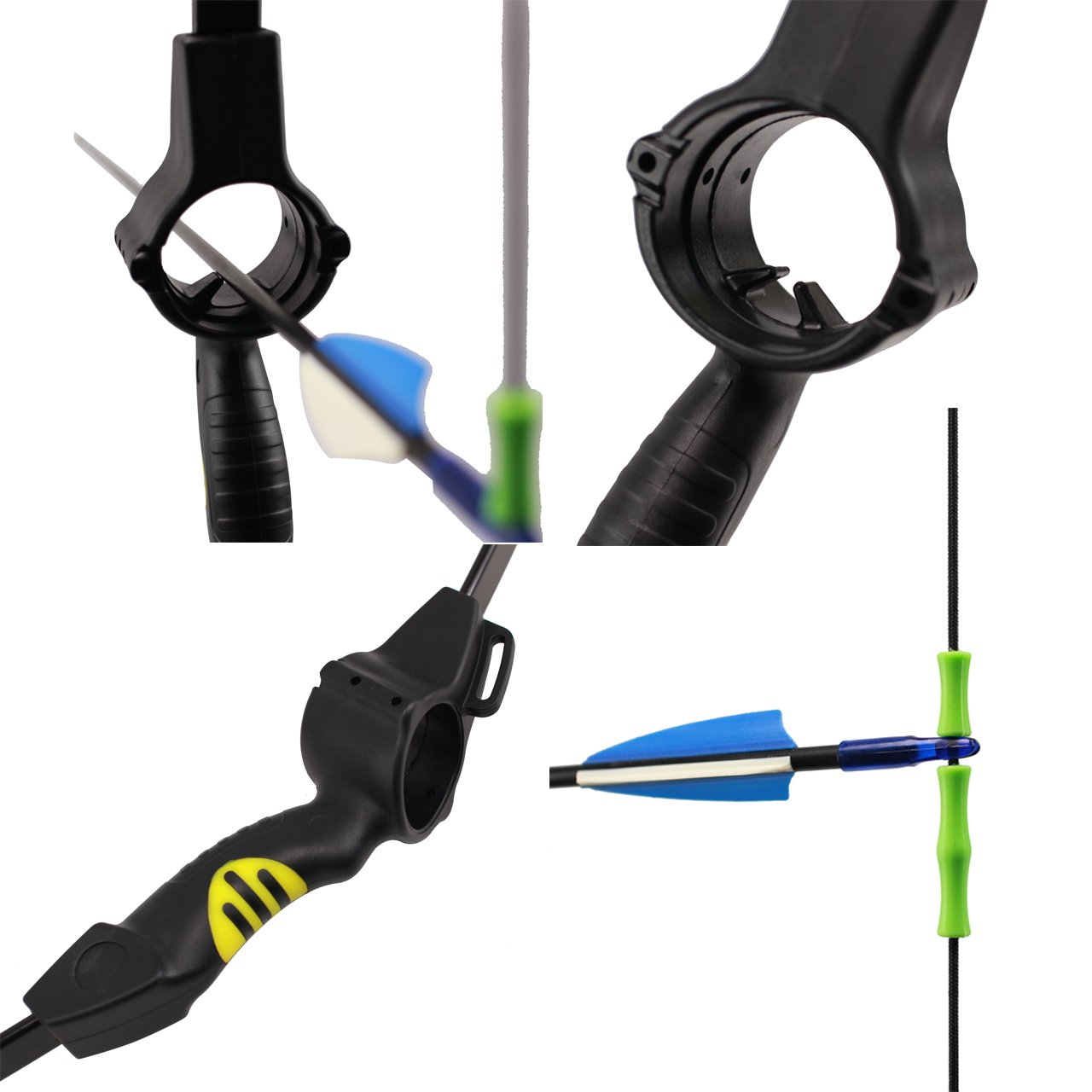 SinoArt Recurve Bow Adjustable Length 48.5''-50'' Draw Weight 14-16 Lb Right and Left Hand with 9 Arrows and 3 Target Faces by SinoArt (Image #4)