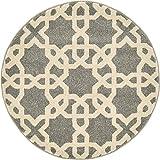 Cheap Unique Loom Trellis Collection Geometric Modern Gray Round Rug (3′ x 3′)